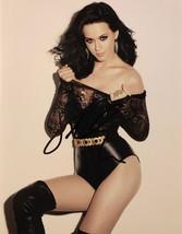 KATY PERRY AUTOGRAPHED Hand Signed 11x14 PHOTO Black Leather Leotard w/COA  - $149.99