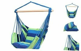 Blissun Hanging Hammock Chair, Hanging Swing Chair with Two Cushions, 34... - $57.49