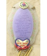 Paula Home Sweet Home Heart Glass Plaque Wind Chime Windchime - $24.74