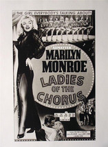 MARILYN MONROE SEXY PIN-UP POSTER MOVIE PHOTO FROM FILM LADIES OF THE CH... - $5.94