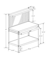 Black Steel Workbench Ball Bearing Drawer Steel Frame for Durability Con... - $80.99