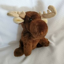 Dakin Arctic Circle Enterprises Inc Stuffed Plush Chocolate Brown Moose 1982 - $39.59