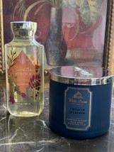 Bath Body Works SWEATER WEATHER Fragrance Shower Gel & 3-Wick candle - $34.64