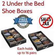 32 Pair Shoe Organizer Zippered Closet Door Under Bed Storage Box Rack H... - $37.90