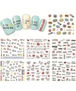 Sheet New Nail Art Water Transfer Design Sweet Love Letter Tip Nail Art ... - $0.60