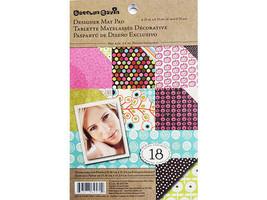 K&Company Carolyn Gavin Designer Map Pad Cardstock, 18 Sheets #30-625709