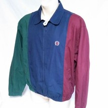 VTG Tommy Hilfiger Colorblock Jacket Golf Crest 90s Ski Sailing Coat Large - $89.09