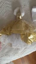 BARBIE DOLL SIZE WINTER METALLIC GOLD SNOWFLAKE BALL GOWN FORMAL DRESS, ... - $4.94