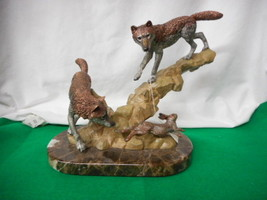 Kitty Catrell Legends Missed by a Hare Bronze 308/500 Wolf Rabbit - $638.55
