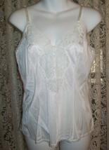 "Vintage Lingerie Womens 36"" B  Medium White Lacy Cami Camisole Tank Mel-... - $3.46"