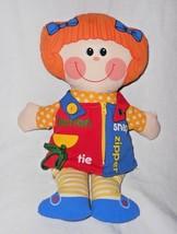 1983 Playskool Dressy Bessy Girl Doll Learn to Dress Activity Plush Stuf... - $24.73