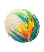 Japanese Pattern Textile Bamboo Umbrella 16 Head Umbrella - Bird of Paradise - $104.93