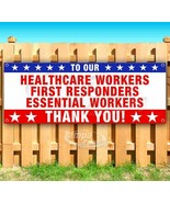 THANK YOU ESSENTIAL WORKERS Advertising Vinyl Banner Flag Sign Sizes USA... - $12.32+