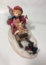 """Enesco Laura's Attic 1991 """"Come On You Can Do It Winter Figurine #300136 - $24.70"""