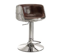 Acme Brancaster Adjustable Stool W/Swivel (1Pc) - 96555 - Vintage Brown Top Grai - $1,029.19