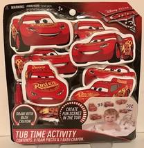 Disney Pixar CARS 3 Tub Time Activity - 8 Foam Cars & Bath Crayon Party ... - $4.54