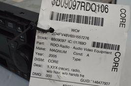 2005-2007 CHRYSLER DODGE RADIO 6 CD MP3 CASSETTE PLAYER TESTD 5091523AL AA36#016 image 6