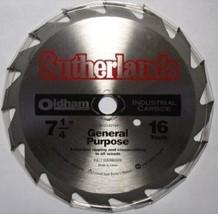 "Oldham B7254216P  7-1/4"" x 16 Carbide Saw Blade - $2.72"