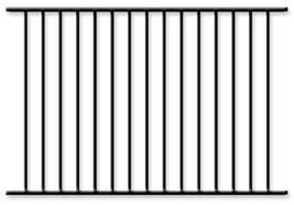 "Black Aluminum Fence 4 Ft X 6ft Assembled Panel Pool Code ""Read Item Details."" - $58.95"