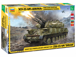 Zvezda 3635 - Soviet self-propelled anti-aircraft gun ZSU-23-4 Shilka Scale 1/35 - $99.00