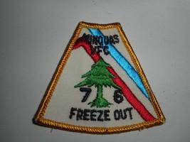 Vintage 70s BSA Boy Scouts Pennsylvania Minquas VFC 76 Freeze Out Patch ... - $6.99
