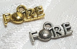 GOLF FORE FINE PEWTER PENDANT CHARM image 1