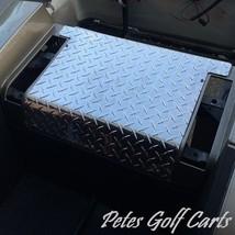 EZGO TxT Golf Cart Polished Aluminum Diamond Plate Rear Access Cover - $44.54