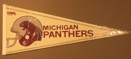Vintage 1982 USFL | Michigan Panthers | 30x12 Pennant - $34.99