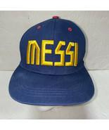FC Barcelona Mens Hat Messi OSFA Snapback Baseball Cap FCB Lionel Soccer - $19.59