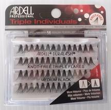Ardell Eyelash Knot Free Triple Flares Individual Medium Black ( pack of 4) - $24.99