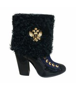 CHANEL PARIS-MOSCOU MOSCOW 2009 ANKLE BOOTS Persian Lamb Trimming 39.1/2... - $1,485.00