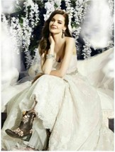 Womens Wedding Dress Ivory Taupe Size 14 by Moonlight Couture H1283 Brid... - $326.32