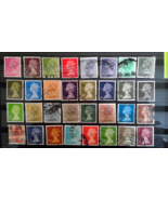 Gorgeous Lot Great Britain UK Machin Postage Stamps Used off Paper Colle... - $1.16