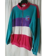 VTG SK SPORT 80's Velour Track Jacket Lake Tahoe is for Lovers Color Blo... - $24.25