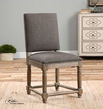 MID CENTURY RUSTIC FINISH HIGH BACK ACCENT DINING CHAIR HARDWOOD WOVEN P... - $503.80