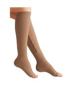 New Compression Socks Women Support Knee Zipper Female Open Toe Thin  St... - $19.99