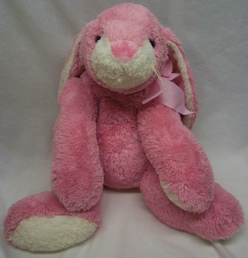 """Mary Meyer LARGE FLOPPY PINK BUNNY RABBIT 13"""" Plush Stuffed Animal Toy"""