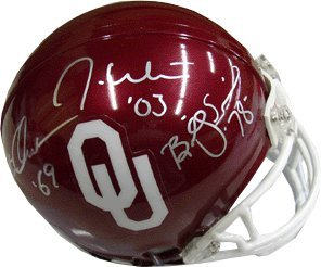 Primary image for Billy Sims signed Oklahoma Sooners Heisman Trophy Winners Replica Mini Helmet- S