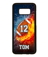 PERSONALIZED NAME NUMBER FOOTBALL PHONE Case For Samsung Galaxy S8 S7 S6... - $11.99+