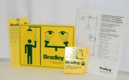 Bradley S19310 Combination Drench Shower Eye Wash Unit Plastic Bowl image 5