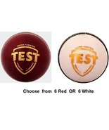 SG Test Balls Choose from 6 Red / 6 White Cricket Ball - $235.25