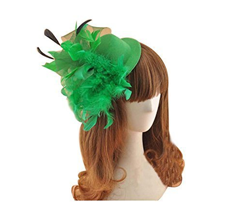 Beautiful Charming Feather Hairpin for Parties/Stage/Wedding,Hat,Green