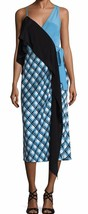 New with Tag - $568 Diane Von Furstenberg Asymmetrical Ruffle Wrap Dress Size 8 - $138.59