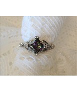 925 Sterling Silver Ring Princess Cut 3.08CT Mystic Rainbow Topaz Sz 6, ... - $20.00