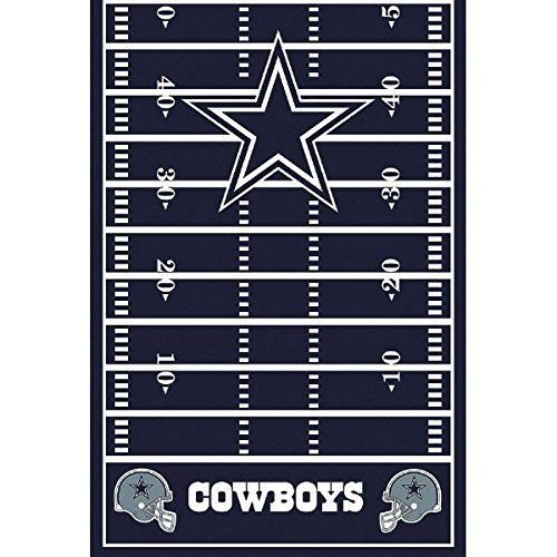 Primary image for amscan Dallas Cowboys Collection Printed Plastic Table Cover for Party, 54 by 10