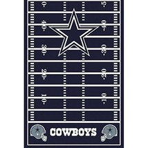 amscan Dallas Cowboys Collection Printed Plastic Table Cover for Party, ... - $11.73
