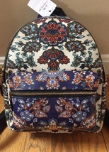 NWT Coach Mini Charlie Backpack Bag Forest flower Fall floral Print F11809 - $146.52