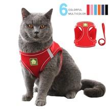 Reflective Puppy Cat Harness Vest With Walking Lead Leash Adjustable Kitten - $18.99