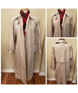Canda Women's Vintage Trench Coat Mac Rain Jacket Light Weight Stone Kha... - $115.78