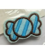 Bow Embroidered Iron On/ Sew On Patch. Blue NEW - $3.60